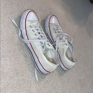 white low-top converse